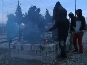 Wintereinbruch im Flüchtlingscamp in Idomeni